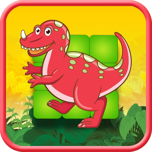 Jurassic Dino-Saur Hunter Flow Free - ADVERT FREE Puzzle Game icon