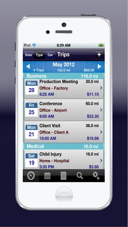 MileWiz Pro - Personal mileage tracker and trip log for reimbursement or tax deduction