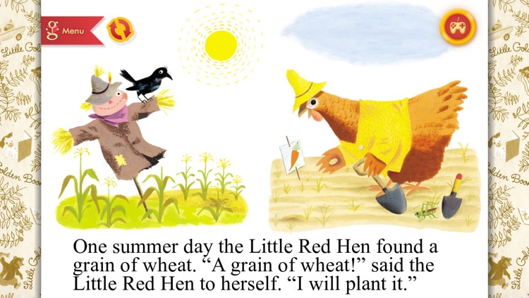 The Little Red Hen - A Little Golden Book App screenshot-2