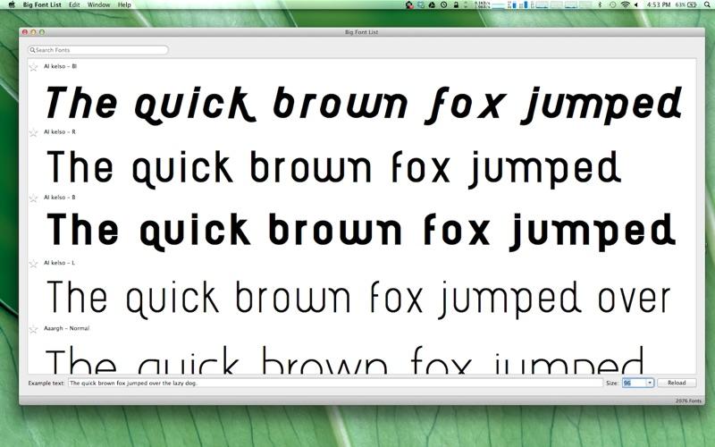 点击获取Big Font List