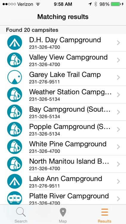 CampHero - Michigan Campground Finder screenshot-3
