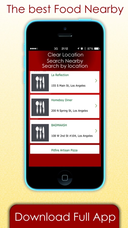 Food Restaurants & Bars finder - Find where to eat at my current location and more