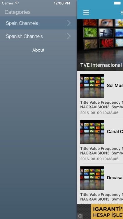 Spain TV Channels Sat Info by Murat Akdas