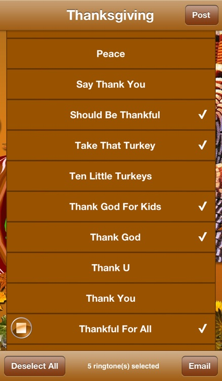 Thanksgiving Ringtones screenshot-2