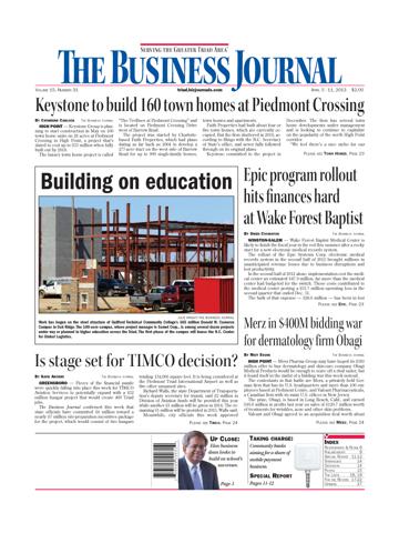 Screenshot of Triad Business Journal