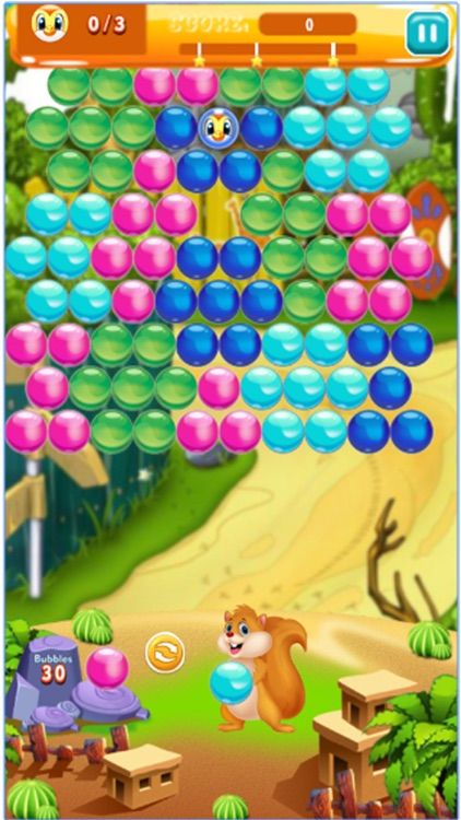 Bubble with Squirrel Trouble 2 : Shoot ,Burst & Pop bubbles in this free bubble shooter screenshot-3