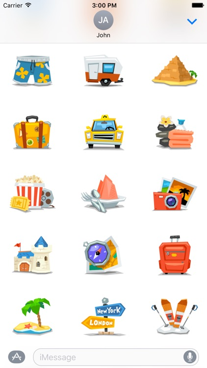 Travel - Stickers for iMessage