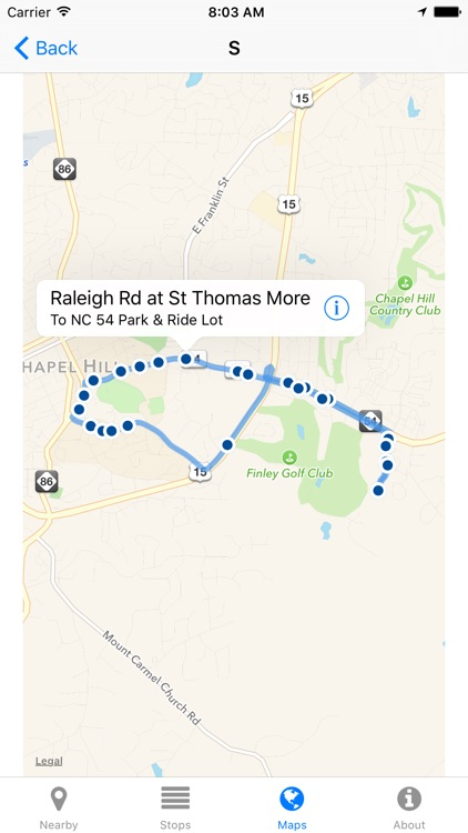 Chapel Hill Transit Now - Real-time Transit Arrivals screenshot-3