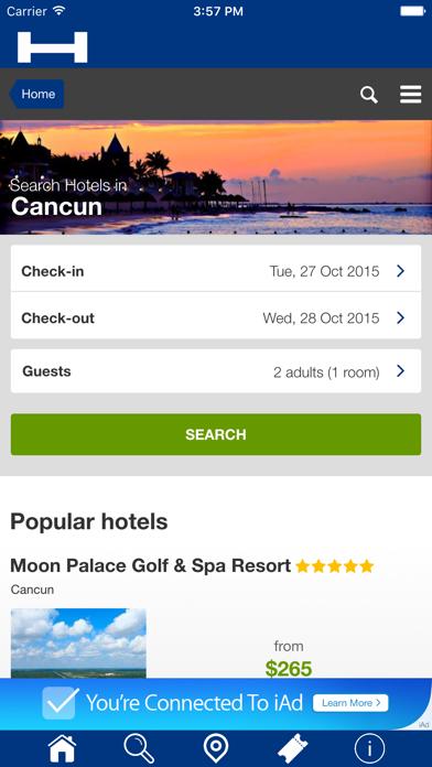 Ciudad Cancún Hoteles + Compara y Reserva de hotel para esta noche con el mapa y viajes turísticosCaptura de pantalla de1
