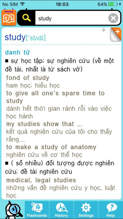 DioDict3 ENG–VIE Dictionary screenshot-2