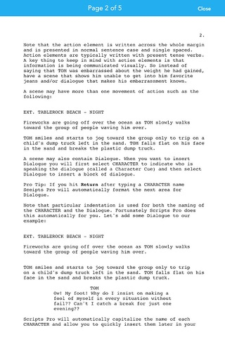 Scripts Pro - Screenwriting on the Go screenshot 4