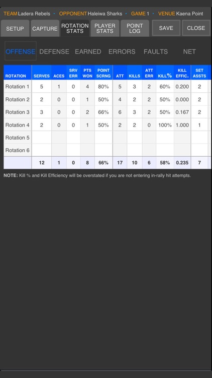 SoloStats 123 Volleyball screenshot-4