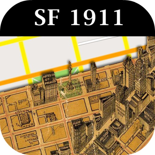 1911 San Francisco Map Lost City