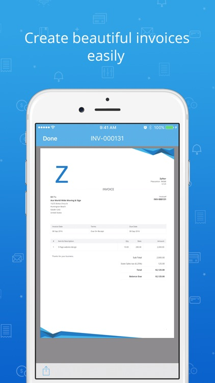 Accounting app - Zoho Books