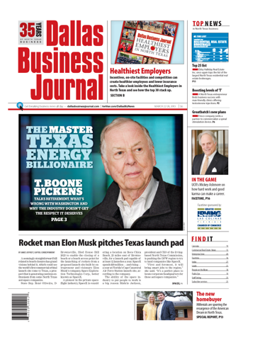 Screenshot of Dallas Business Journal
