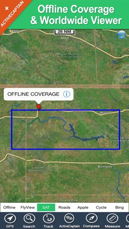 Lake Sakakawea North Dakota charts fishing maps screenshot-4