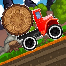 Monster Climb truck - Wood Transport Racing Game
