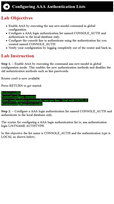Lab guide for CCNA screenshot three