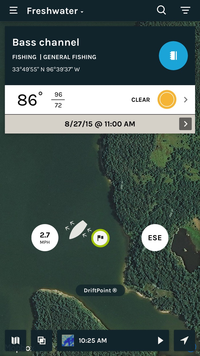 ScoutLook Fishing: Weather, Maps and Fish Logs Screenshot