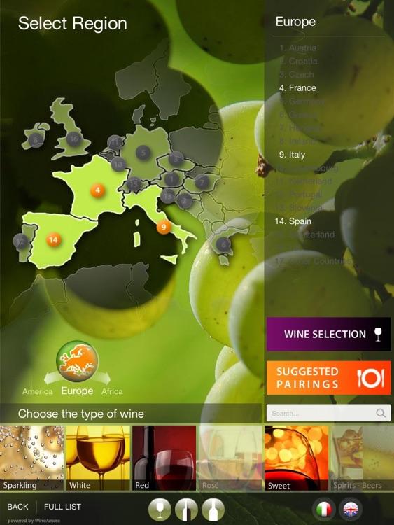 WineAmore Wine List