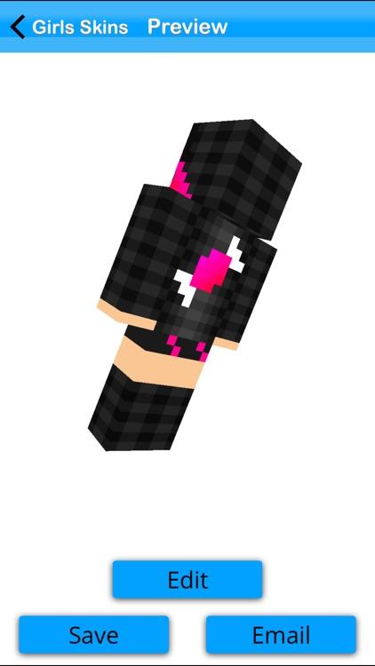 Girls Skin Pack +Editor for Minecraft PE+PC screenshot-3