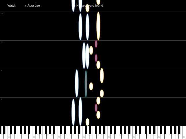 Piano Celestial - midi falling notes on the App Store