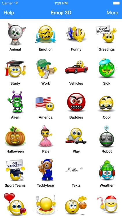 Animated 3D Emoji Emoticons