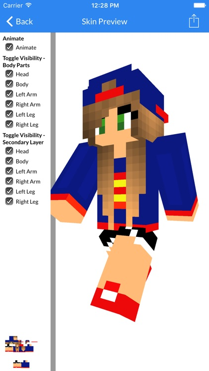 Best Cute and Sexy Girl Skin Of 2016 - New Best Skins For Minecraft Pocket Edition screenshot-4