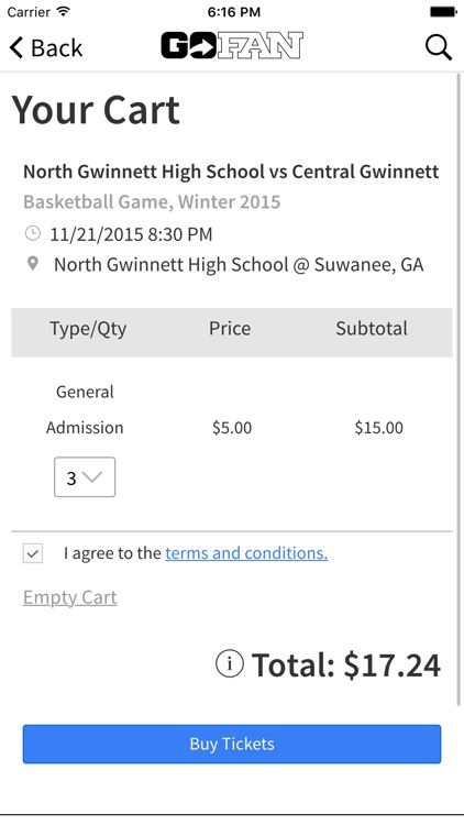 GoFan – High School Tickets screenshot-2