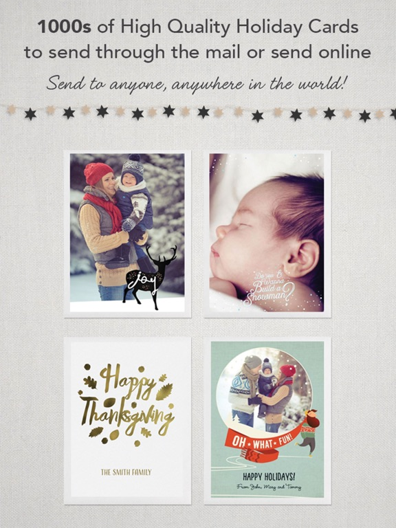 Screenshots of CleverCards: Greeting Cards & eCards for Facebook for iPad