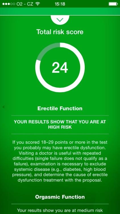 ED Test - risk calculator of erectile dysfunction
