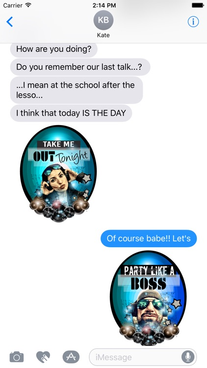 Let's Party Stickers for iMessages screenshot-4