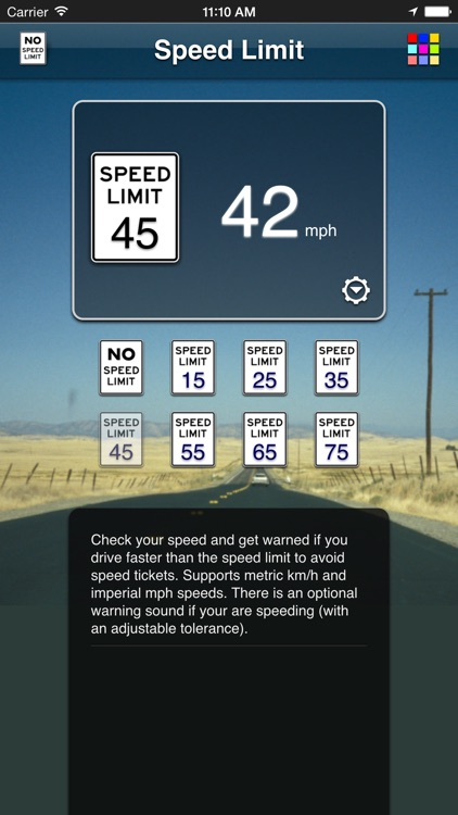 Speed Limit App screenshot-0