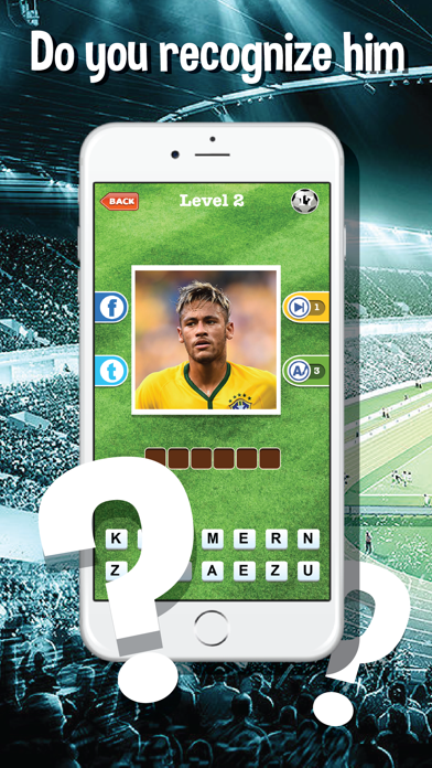 Guess who's the football players quiz app - Top footballer stars trivia game for real soccer fan screenshot two