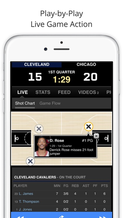 GameDay Pro Basketball Radio - Live Games, Scores, Highlights, News, Stats, and Schedules screenshot-1
