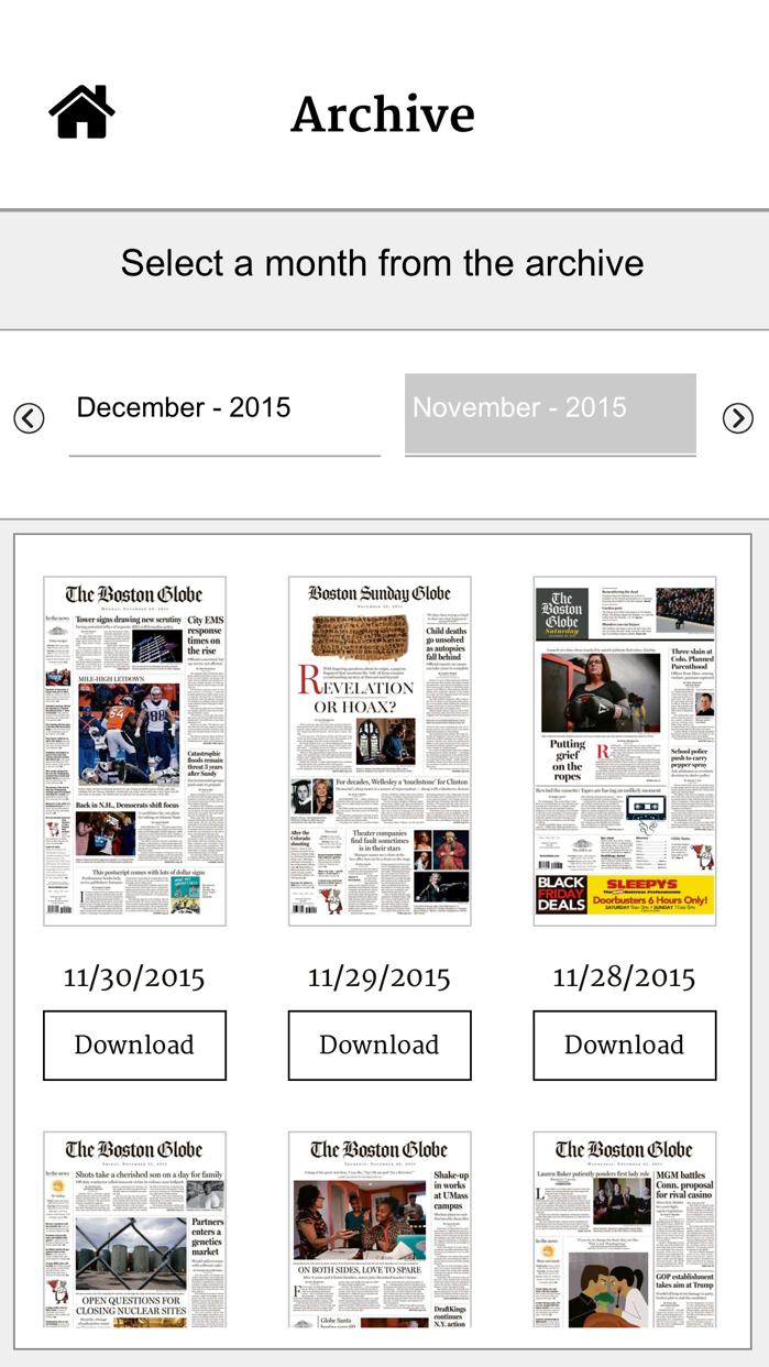 The Boston Globe ePaper Screenshot
