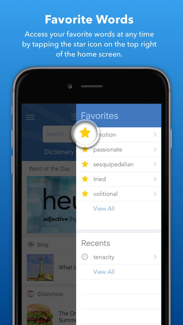 Dictionary.com: Search Words Screenshot