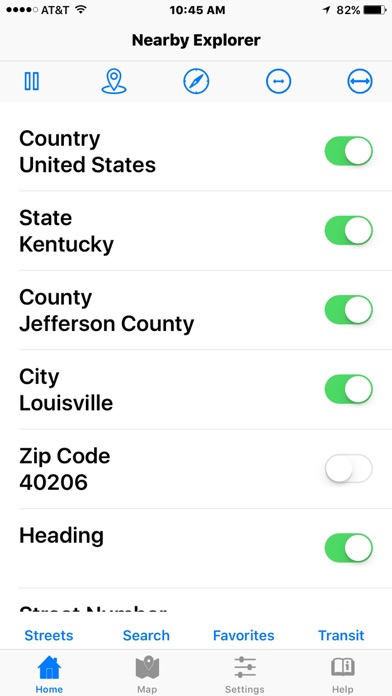 Screenshot for Nearby Explorer in United States App Store