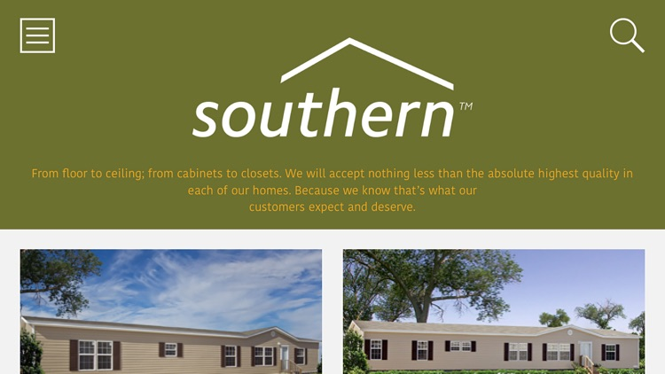 Southern Homes for iPad