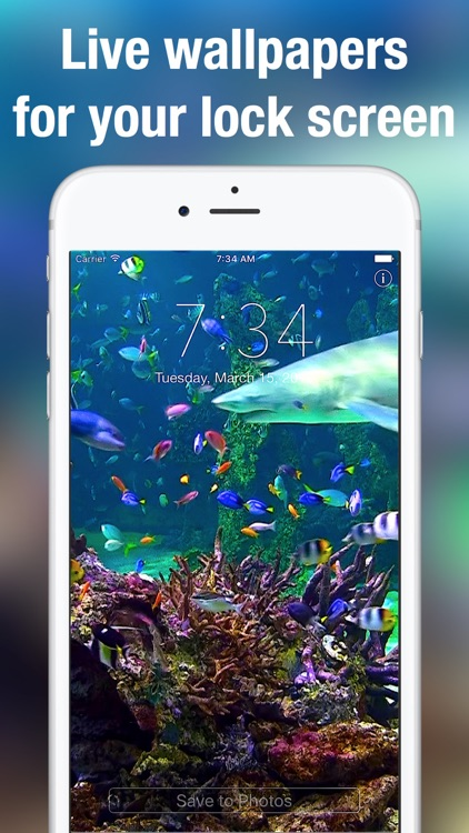 Aquarium Live Wallpapers for Lock Screen: Animated backgrounds for iPhone screenshot-0