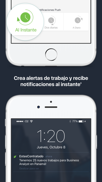 Estascontratado.com screenshot four