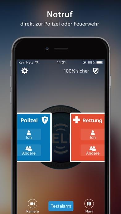 HandHelp-Life Care Notruf AppScreenshot von 1
