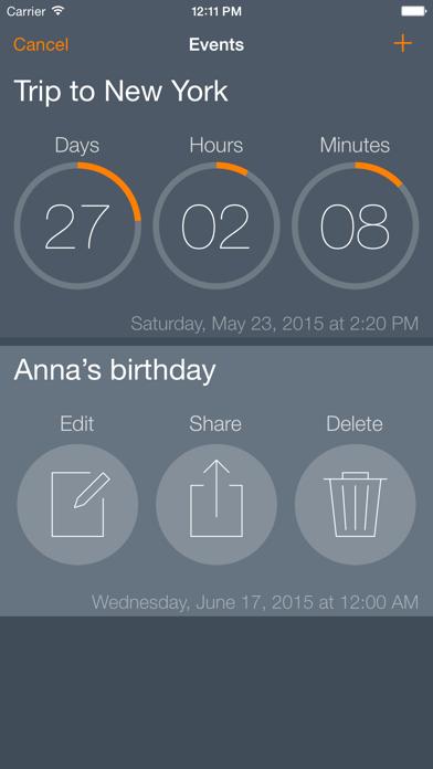 Await - Event Countdown screenshot three