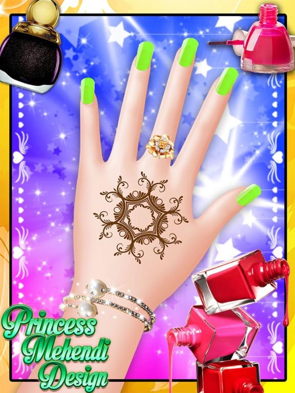 Princess Mehndi Designs Nail art salon girls game