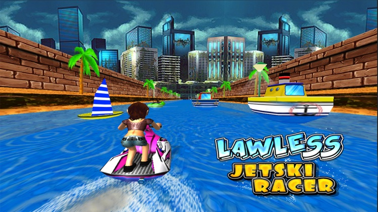 Lawless Jetski Racer -Free ( 3d Stunt Race Games for Boys and Girls ) screenshot-0