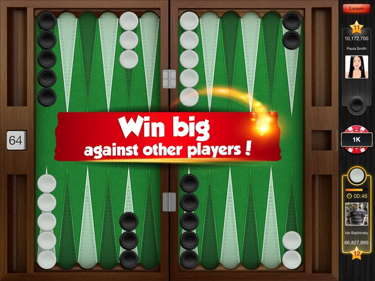 Backgammon PlayGem Multiplayer Live Backgammon HD screenshot-3