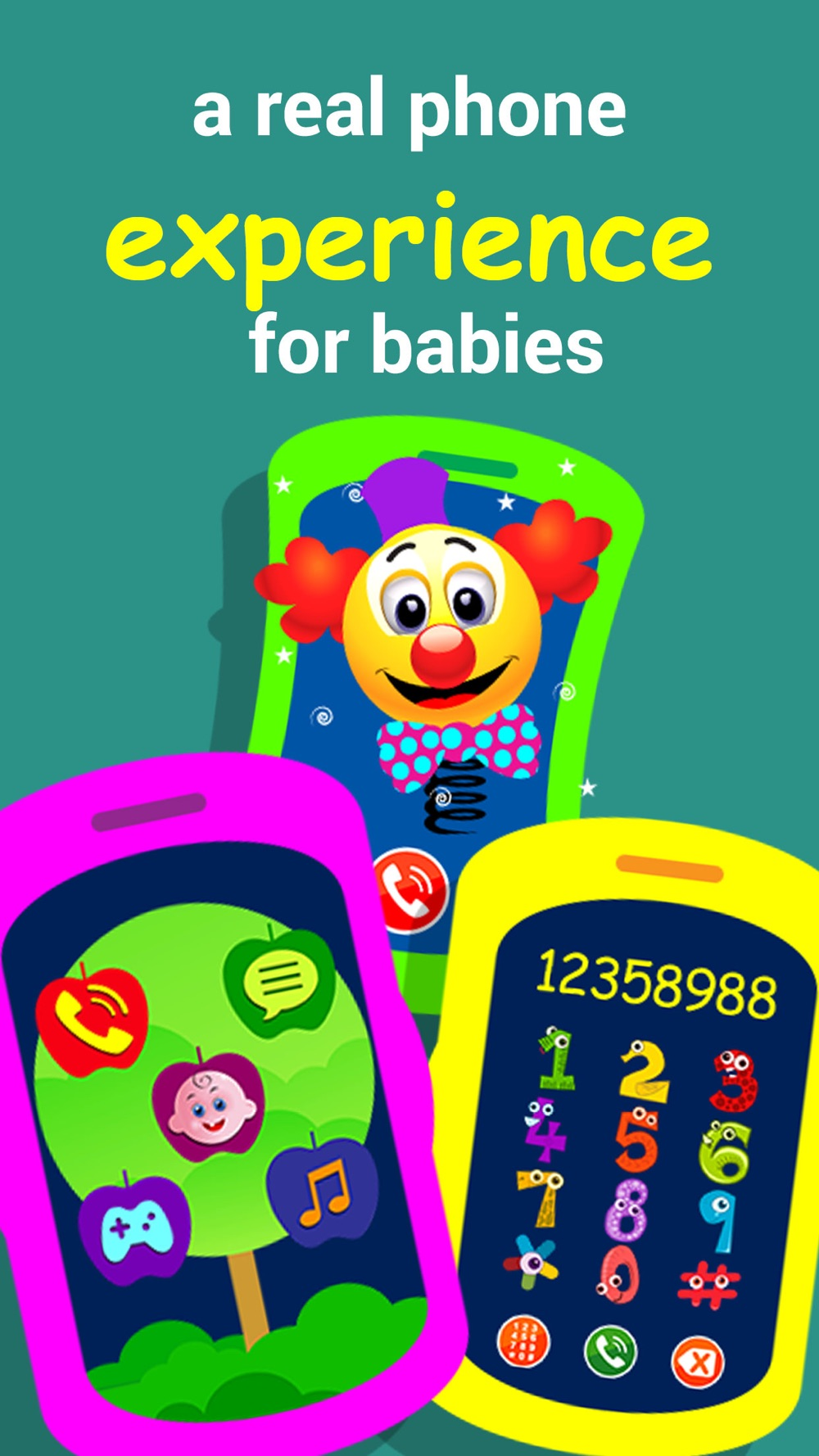 Fun phone toy for kids,  Play phone for toddlers with musical baby games