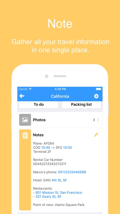 My Trip List - Plan all your trips easily. screenshot-3