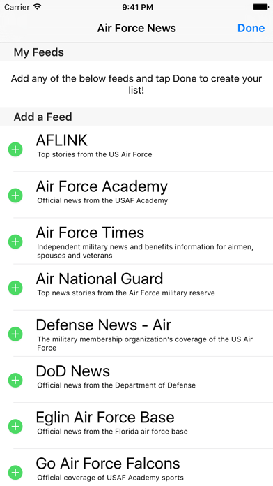 Air Force News - A News Reader for Members, Veterans, and Family of the US Air Force screenshot three