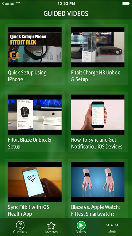 Guide for Fitbit app